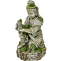 Blue Ribbon EE-696 Ancient Buddha Statue with Moss Exotic Environments Aquarium Ornament, White