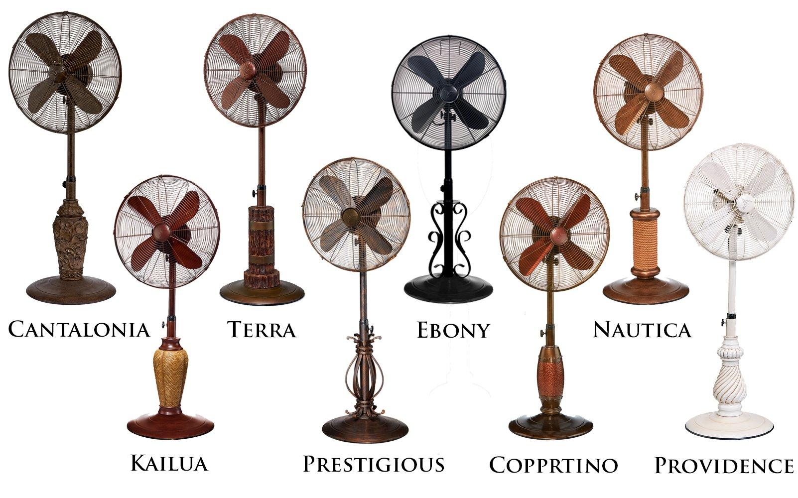 DecoBREEZE Pedestal Fan Outdoor, Oscillating Standing Adjustable Patio Fan, 18 Inch, Prestigious