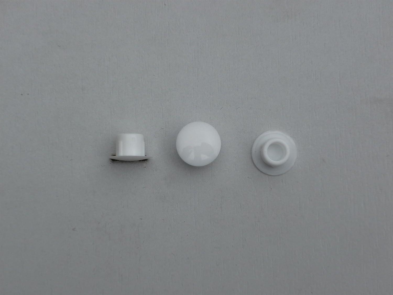 Abdeckung x 8mm 10 St/ück Stopfen 6mm wei/ß Loch