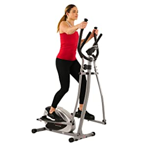 SF-E905 Elliptical Machine Cross Trainer with 12 Level Resistance and Digital Monitor