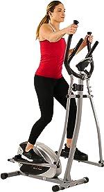 Sunny Health & Fitness SF-E905 Elliptical Machine Cross Trainer with 8
