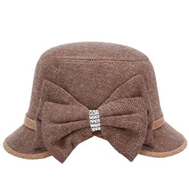 Westeng 1Pcs Gorro de Invierno para Chica Dama Moda Pajarita Gap Sombreros de Invierno Regalo Cálido