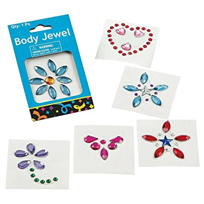 Fun Express Assorted Deluxe Body Jewels (36 Pack): Home & Kitchen