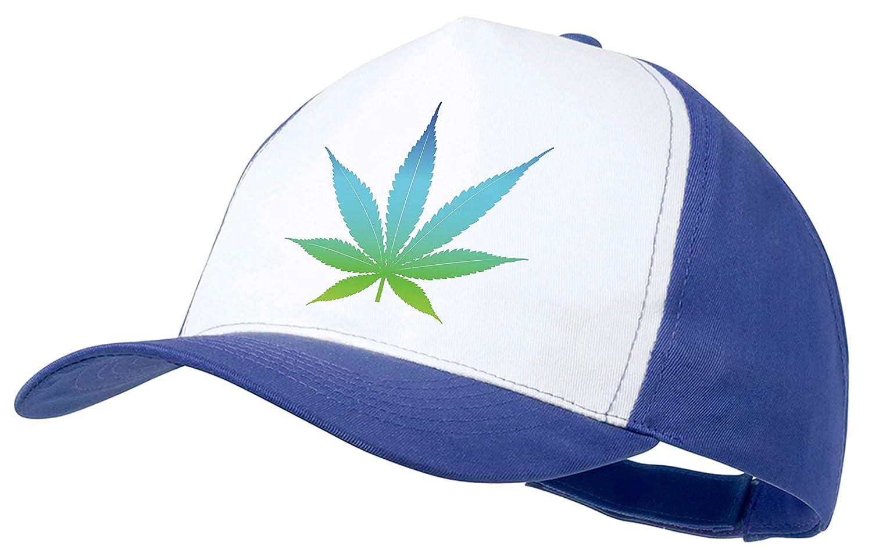 MERCHANDMANIA Gorra Logo Hoja DE Marihuana Color Cap