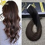 """Ugea 14""""-24"""" Multi Couleur Tape in Extensions Soyeux Droits Dip Teints Remy Extensions de Cheveux Humains Bresiliens 20pcs/50g"""