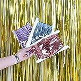 2M Folie Fringe Lametta Vorhang Hintergrund Wand Trennwand Bunte Streifen Quaste