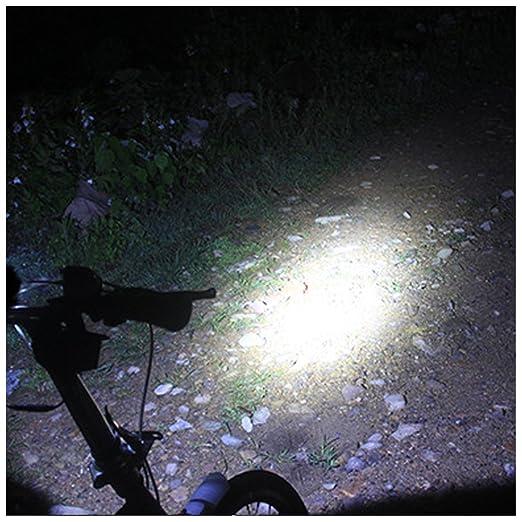 Sunspeed Faro Luz de Bicicleta Impermeable Con USB Recargable 4 ...