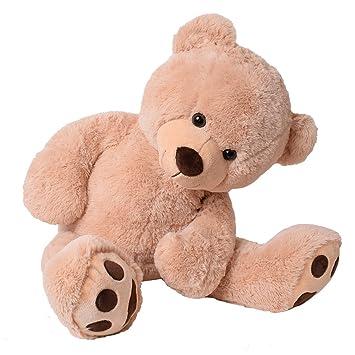 6630d2ca4e TE-Trend XXL Riesen Teddybär Plüsch Kuscheltier Riesenplüsch Riesenteddy Bär  Luca beige 100 cm gestickte