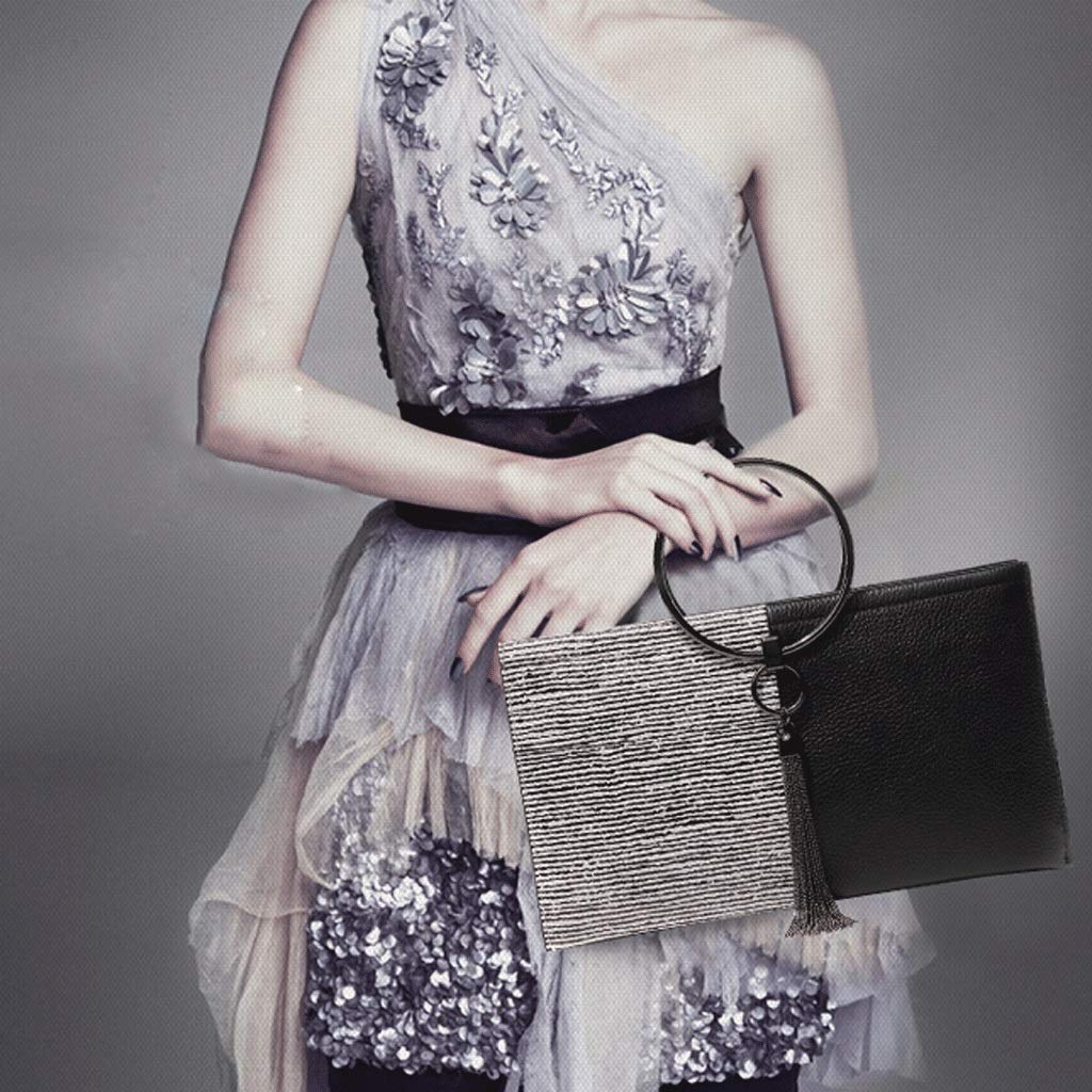 Houlingmei Weibliche tasche- Lederhandtasche weibliche Ringhandtasche beiläufige Temperamenthandtasche Multifunktionslederhandtasche A