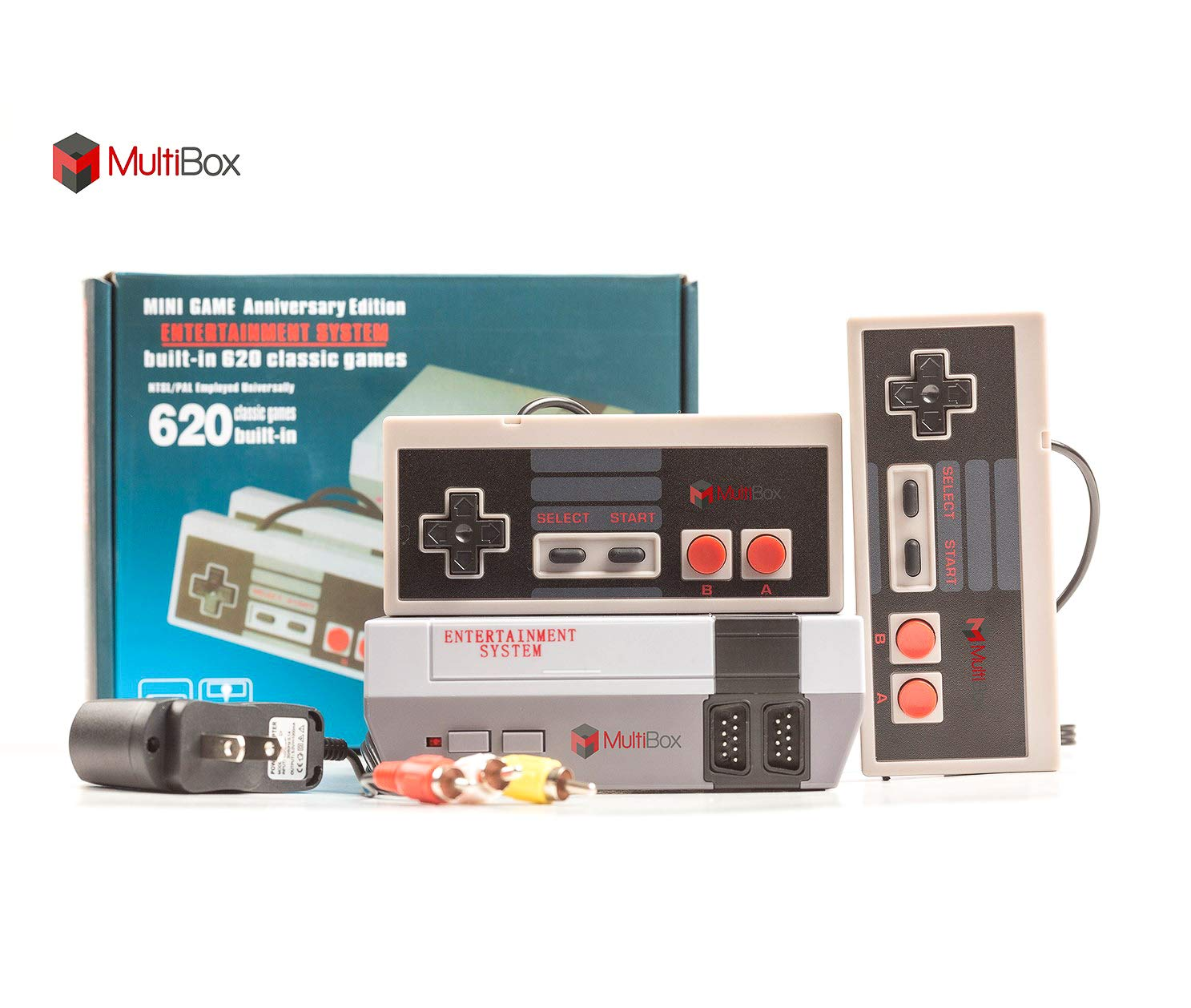 BEST BOX Classic Game Console Retro Childhood Game Classic Game Consoles Built-in 620 Childhood Classic Game Dual Control 8-Bit Console Handheld Game Player Console for Classic Games Family TV Video by BEST BOX (Image #2)