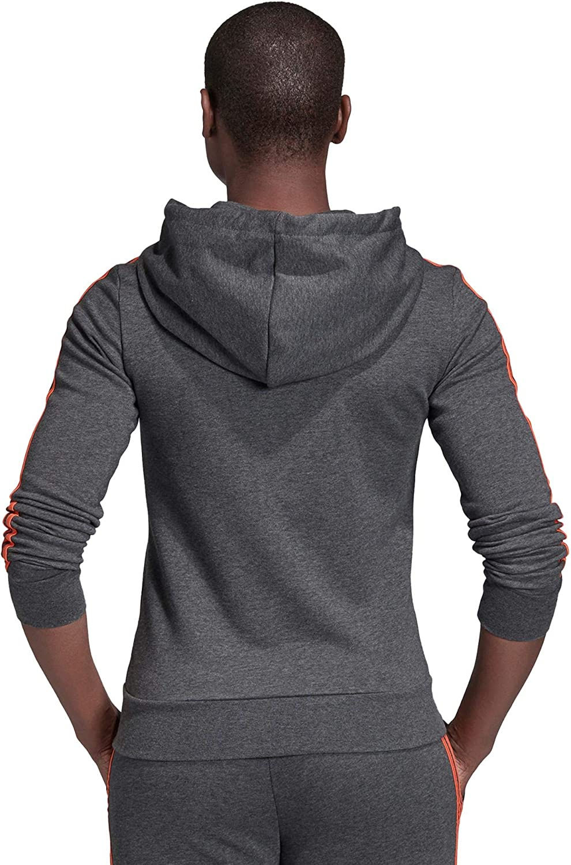 adidas Essentials 3s Full Zip, Track Tops Femme Dark Grey Heather/Semi Coral