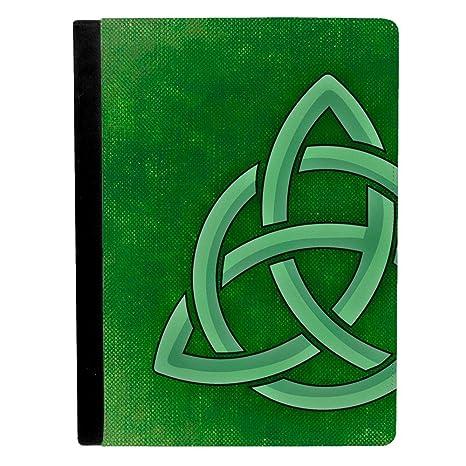 Classico Celtico Simbolo Su Sfondo Verde Apple Ipad Pro 246 Cm Flip