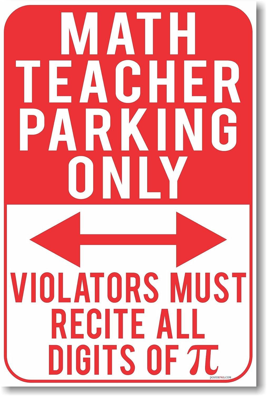 Amazon.com: Math Teacher Parking Only - Violators Must Recite All ...