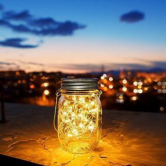 30 LED Farolillos Solares Exterior,Luz Solar Jardin,Lampara Solar ...