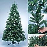 Albero artificiale di natale PREMIUM 100% in polietilene - albero di Natale appena infiammabile con aghi e punte stampati ad iniezione in PE - Dimensioni diverse da scegliere, Dimensione:210 cm