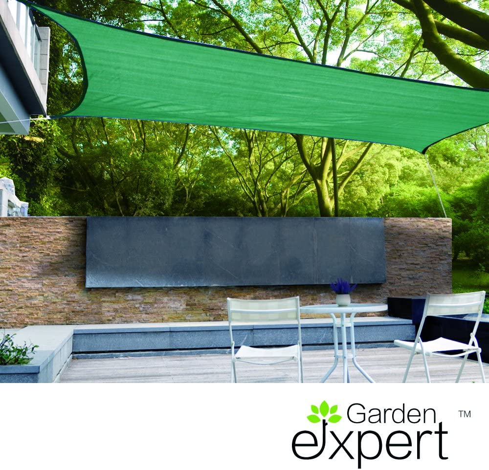 Verde al Aire Libre jard/ín Patio y Fiestas Rectangular Gardenexpert toldo de Vela 2,4 x 3,7 m