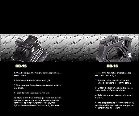 Lights & Reflectors Moon ADJ 1300 Lumen Rechargeable Front Bike Lights with 2 CREE LEDs Having Independent Adjustment LAA544