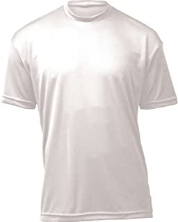 product image for WSI Microtech Loose Short Sleeve Shirt, White, Youth Large