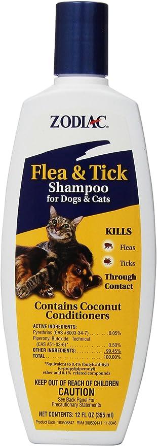 Zodiac pulgas y garrapatas Champú para Perros y Gatos, 12-Ounce: Amazon.es: Productos para mascotas