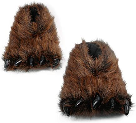 Cute Fuzzy Bear Claw Slippers Fluffy