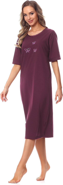 Merry Style Damen Kurzarm Nachthemd 91LW1