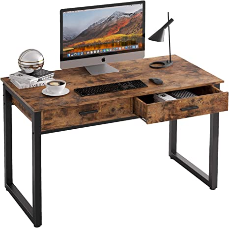 Industrial Computer Desk Vintage Home Office Writing Study Table Workstation