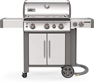 Weber 66006001 Genesis II S-335 3-Burner Natural Gas Grill, Stainless Steel