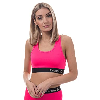 93bc0b3cc3c96 Reebok Womens Danielle Sports Crop Top in Acid Pink  Reebok  Amazon.co.uk   Clothing