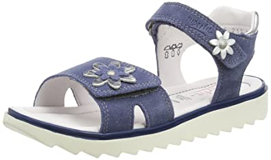 Superfit Elly, Girls' Sandals, Blue (Moonlight Kombi 91), 7.5 Child