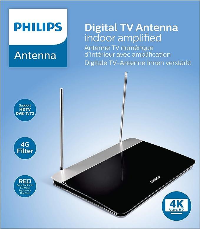 Philips Sdv6227 12 Digital Indoor Dvb T Antenne 47 Db Elektronik