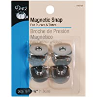 Dritz 760-65 Magnetic Snap, Square, 3/4-Inch, Nickel, 2 Sets