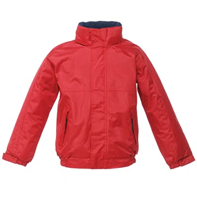 Regatta Kids Dover Insulated Waterproof School Jacket Classic Red/Navy 36