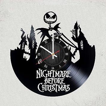 Nightmare Before Christmas Wall Clock Jack and Sally Vinyl Art Kids Gift New