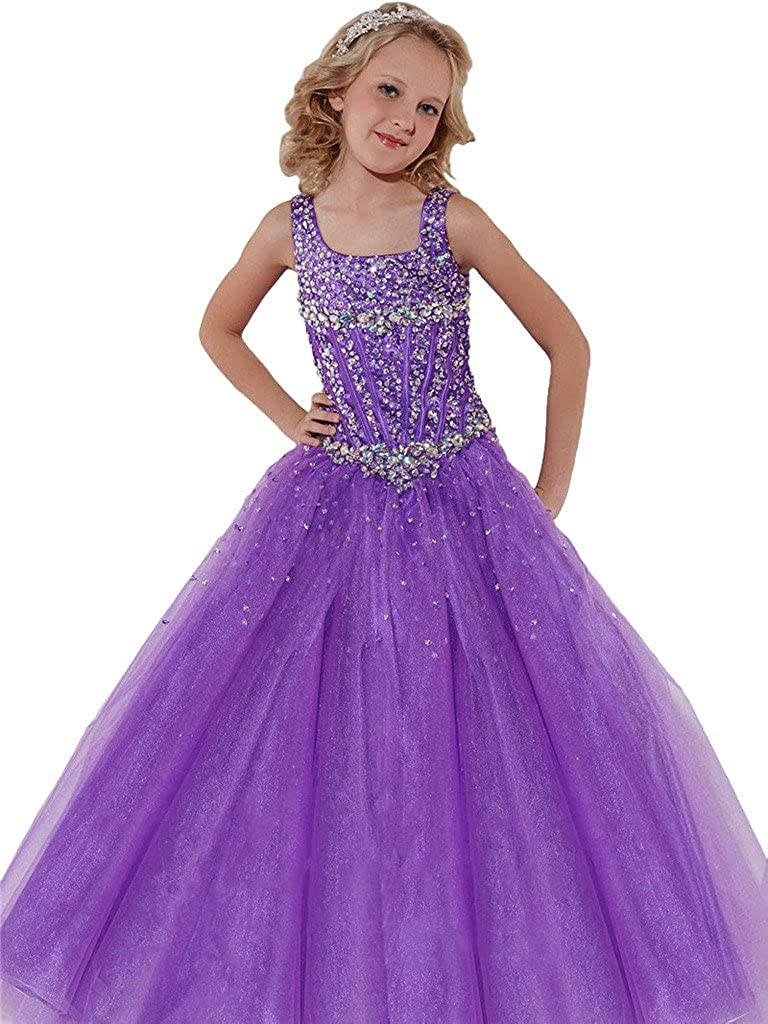 Handmade Girls Disney Bing Bunny Pageant Ball Gown Glitter Sparkle Party Tulle Tutu Dress