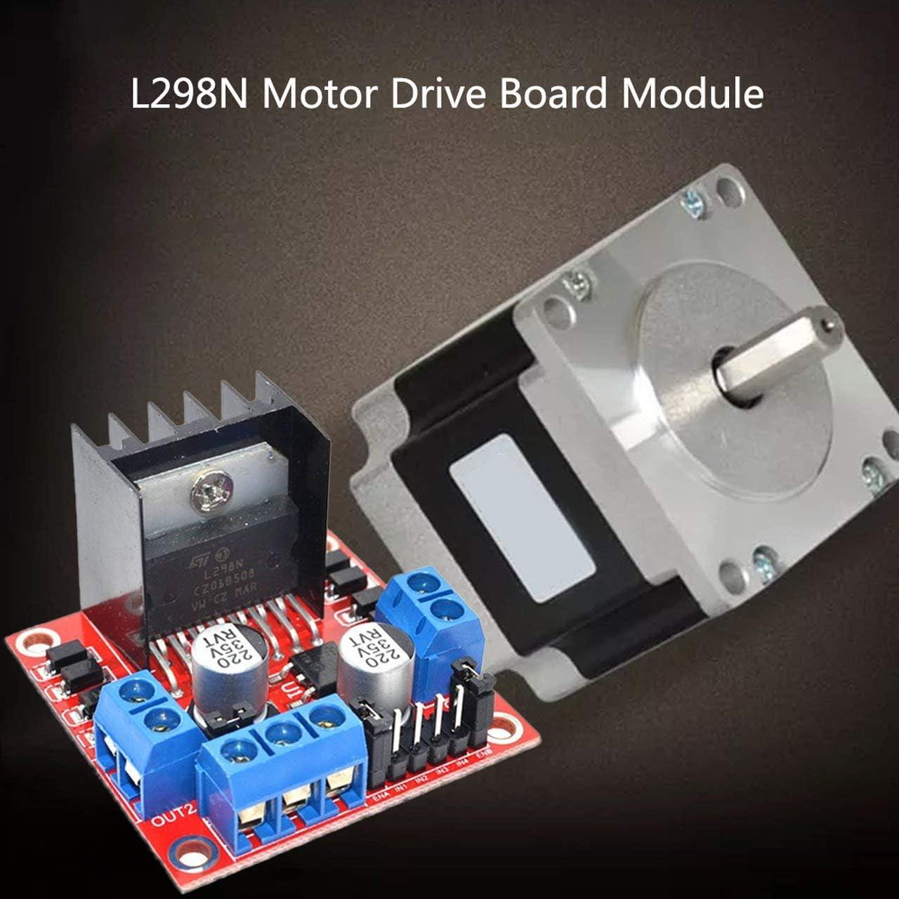 Red Plate L298N Motor Drive Board Module Stepper Motor For Smart Car Robot red Jasnyfall