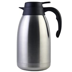68 Oz Stainless Steel Thermal Coffee Carafe/Double Walled Vacuum Thermos / 12 Hour Heat Retention / 2 Litre by Cresimo