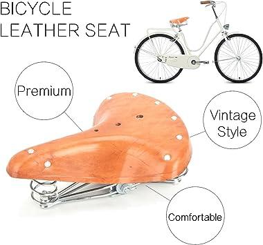 RockBros Cycling Bicycle Saddle Seat Large Thick Soft Comfort Bike Saddle Brown