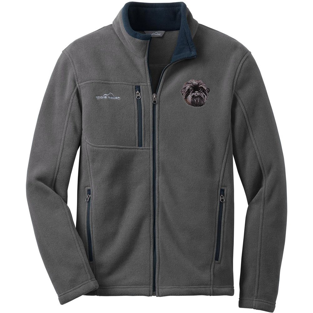 631b6c0540ccb Cherrybrook Gray Dog Breed Embroidered Mens Eddie Bauer Fleece Jacket (All  Breeds) at Amazon Men's Clothing store: