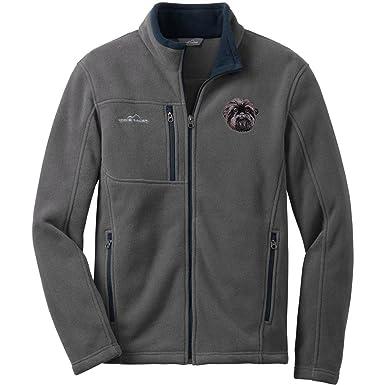 bff3bb07ffad4 Cherrybrook Dog Breed Embroidered Mens Eddie Bauer Fleece Jacket - X-Small  - Gray -