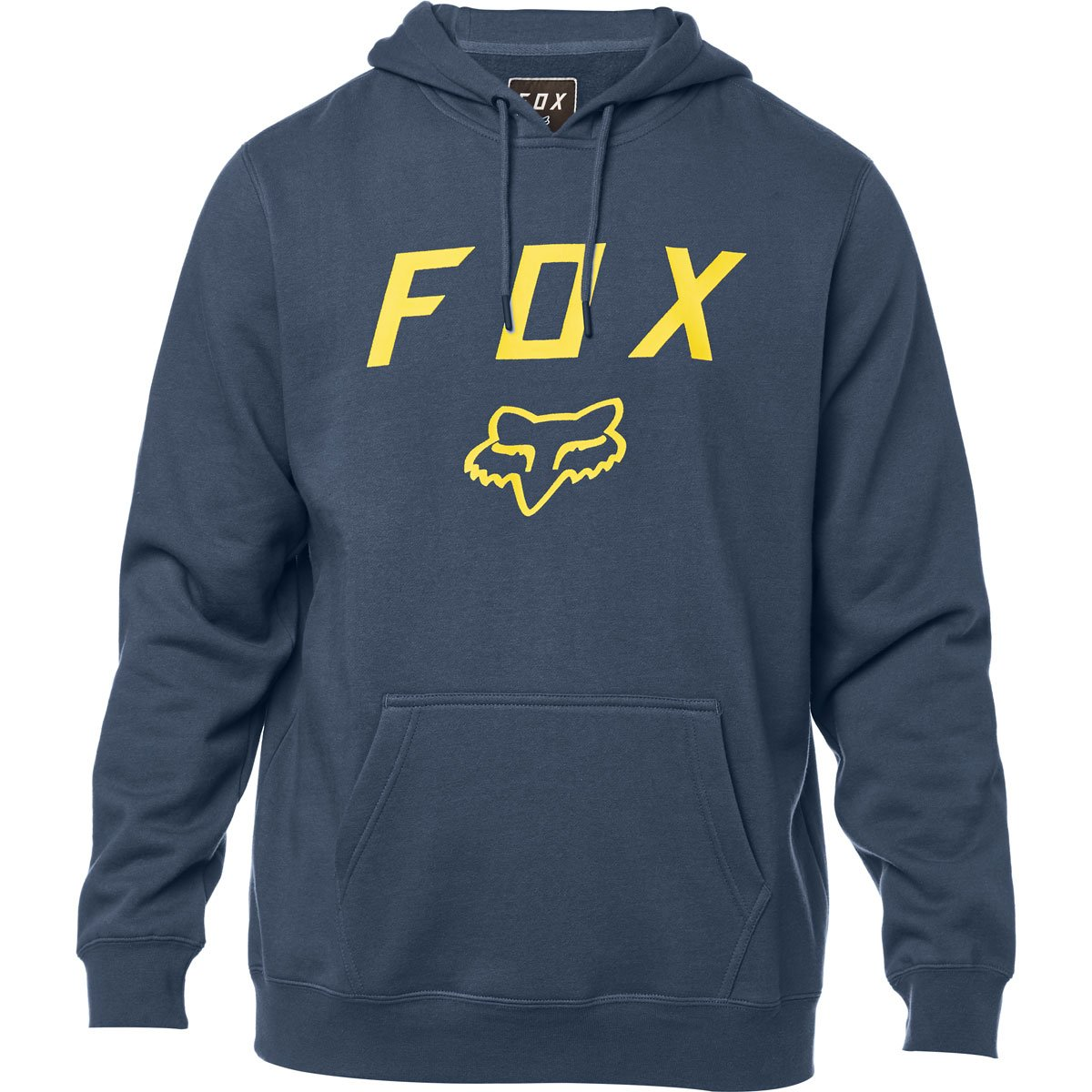 Fox Men's Standard Fit Legacy Logo Pullover Hooded Sweatshirt, Navy, 2X