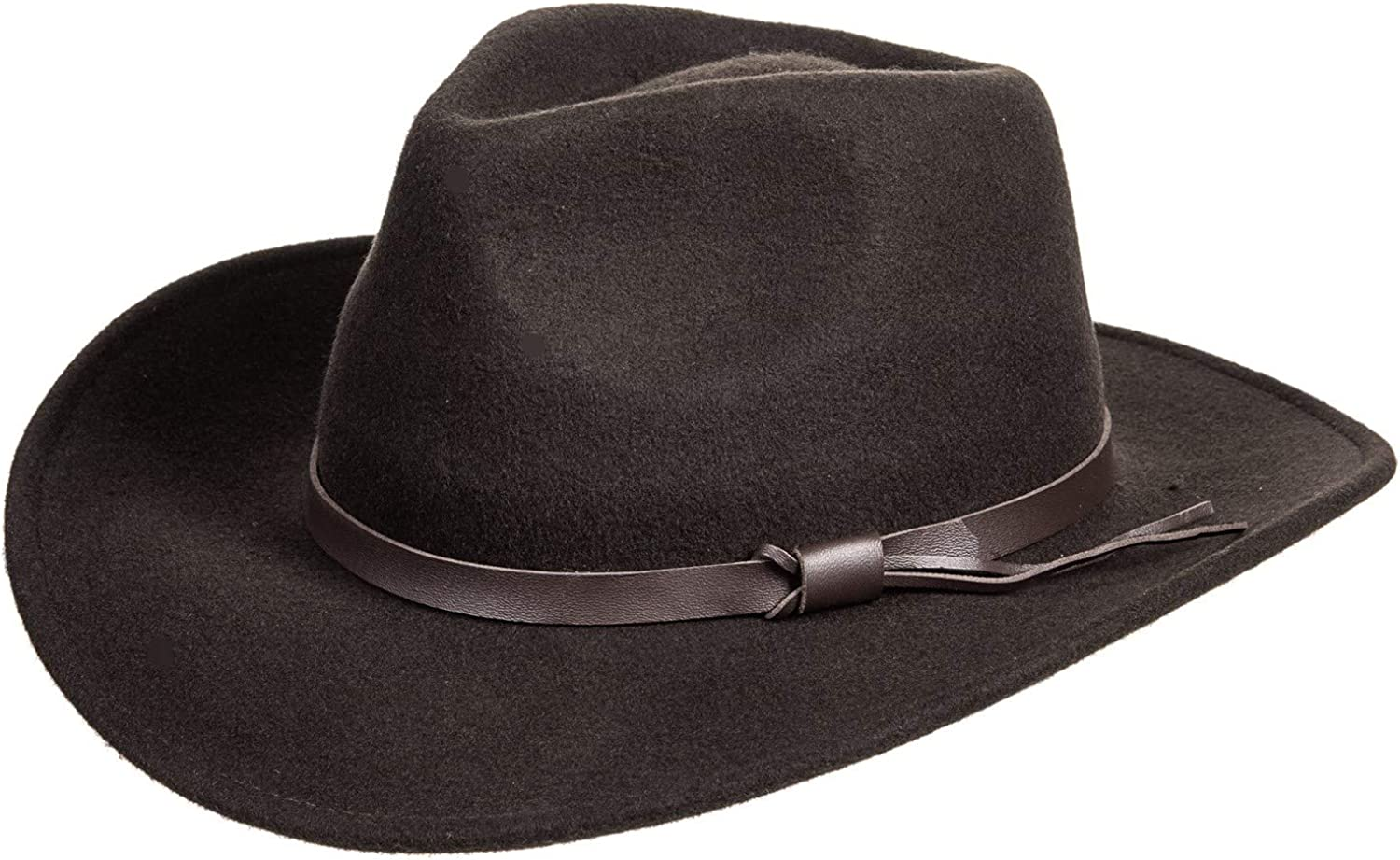 NEW MAGELLAN OUTDOORS CRUSHABLE 100/% WOOL FELT OUTBACK HAT BROWN SMALL//MED SIZE