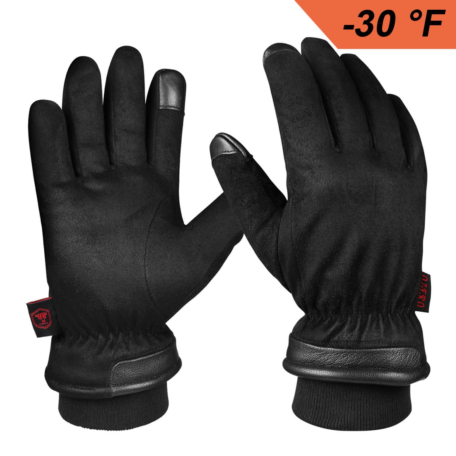 Warm Gloves for Men, Waterproof Winter Driving Glove Thermal in Cold Weather