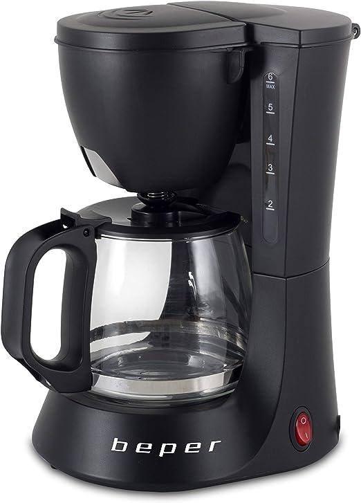 BEPER Cafetera Americana BC.060 Color Negro, 6 Tazas, de Goteo, OneSize: Amazon.es: Hogar