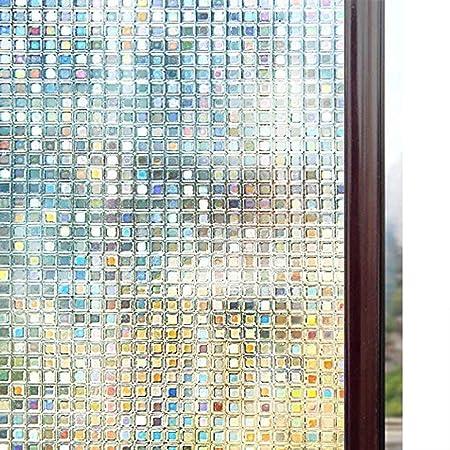 rabbitgoo Vinilos para Ventanas Privacidad 3D Laminas Translucido Vinilo Cristal Ventanas Adhesivos Pegatina para Decorativos, Pelicula Electrostática para Ducha Mampara Ventanas 90X200CM: Amazon.es: Hogar
