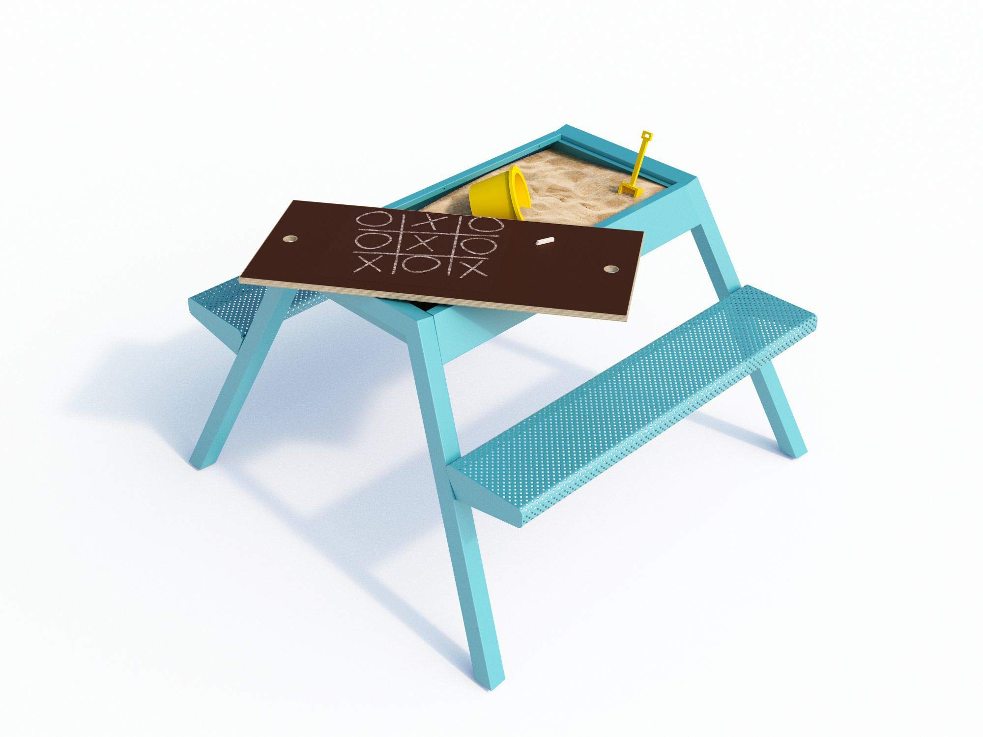 Smelis Kids Multi Purpose Picnic Table, Turquoise by Curonian (Image #1)
