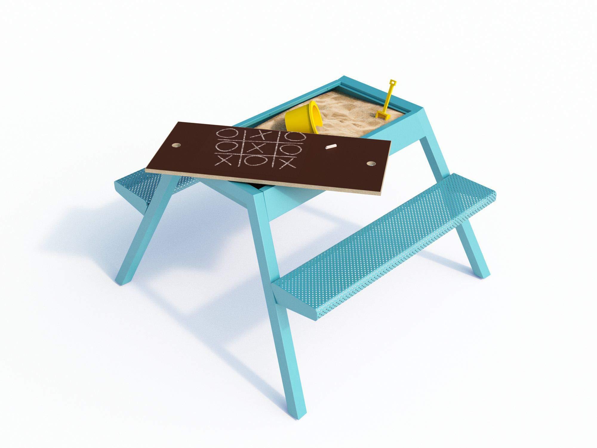 Smelis Kids Multi Purpose Picnic Table, Turquoise