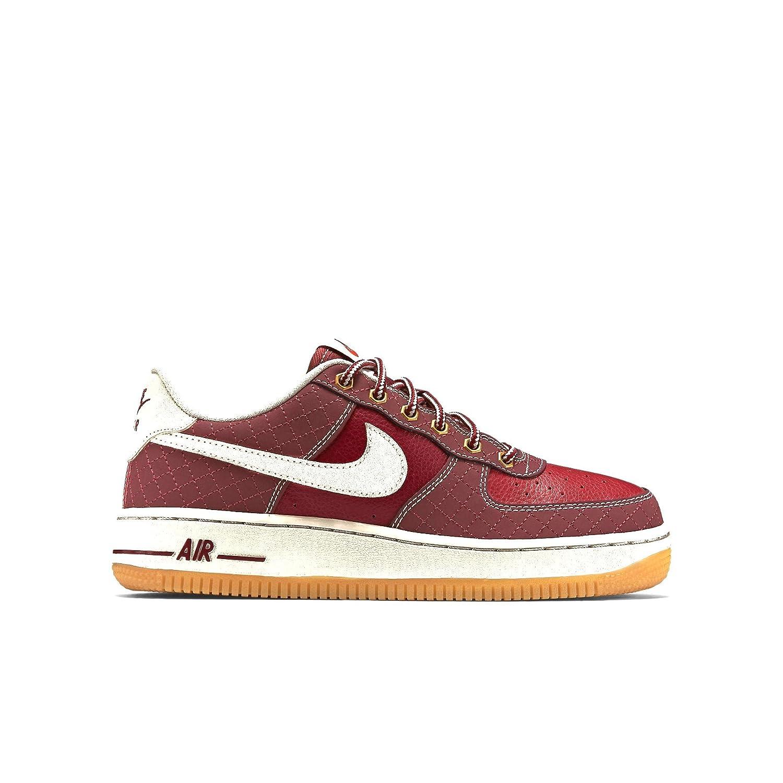 huge discount b8a33 111e6 Amazon.com  Nike Air Force 1 Premium GS RedGumLight Bone 748981-600  (SIZE 5.5Y)  Sneakers