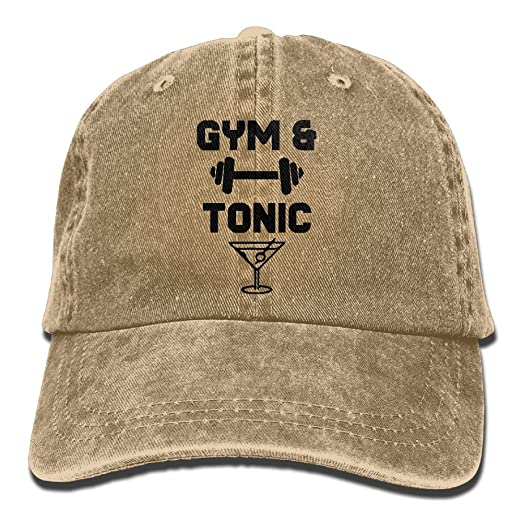 Mens Womens Baseball Cap Hat Gym and Tonic Summer Denim Snapback Cap for  Women 95f072e8ad9