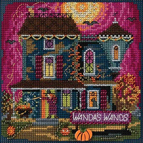 Mill Hill Wanda's Wands Beaded Counted Cross Stitch Halloween Kit 2018 Buttons & Beads Autumn MH141822]()