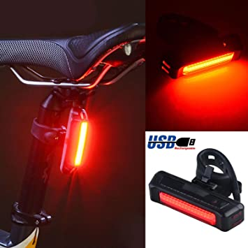 Super Bright Bike COB Strip Tail Light Mountain Bike Light For Night Riding RS